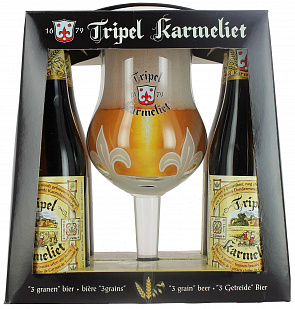 "Набор ТРИПЛ КАРМЕЛИТ / Bosteels ""Tripel Karmeliet"", 8,4%, (4бут*0,33л + бокал)-1"