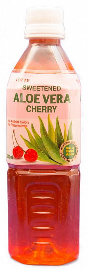 "АЛОЭ ВЕРА Вишня / LOTTE ALOE ""Cherry"", (0,5л.), ПЭТ-1"