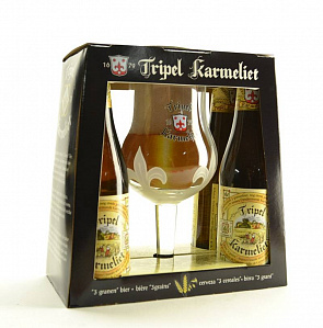 "Набор ТРИПЛ КАРМЕЛИТ / Bosteels ""Tripel Karmeliet"", 8,4%, (4бут*0,33л + бокал)-2"