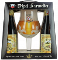 "Набор ТРИПЛ КАРМЕЛИТ / Bosteels ""Tripel Karmeliet"", 8,4%, (4бут*0,33л + бокал)"