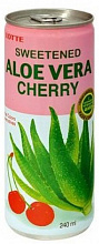 "АЛОЭ ВЕРА Вишня / LOTTE ALOE ""Cherry"", (0,24 л.), ж/б"