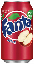 "ФАНТА Яблоко / Fanta ""Apple"" (США), 0,355мл., ж/б"