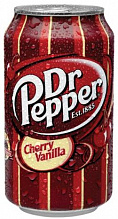 ДОКТОР ПЕППЕР Вишня Ванила / Doctor Pepper Cherry Vanilla (США), 0,355мл., ж/б