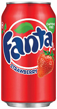 "ФАНТА Клубника / Fanta ""Strawberry"" (США), 0,355мл., ж/б"
