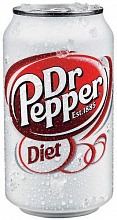 ДОКТОР ПЕППЕР Диет / Doctor Pepper Diet (США), 0,355мл., ж/б